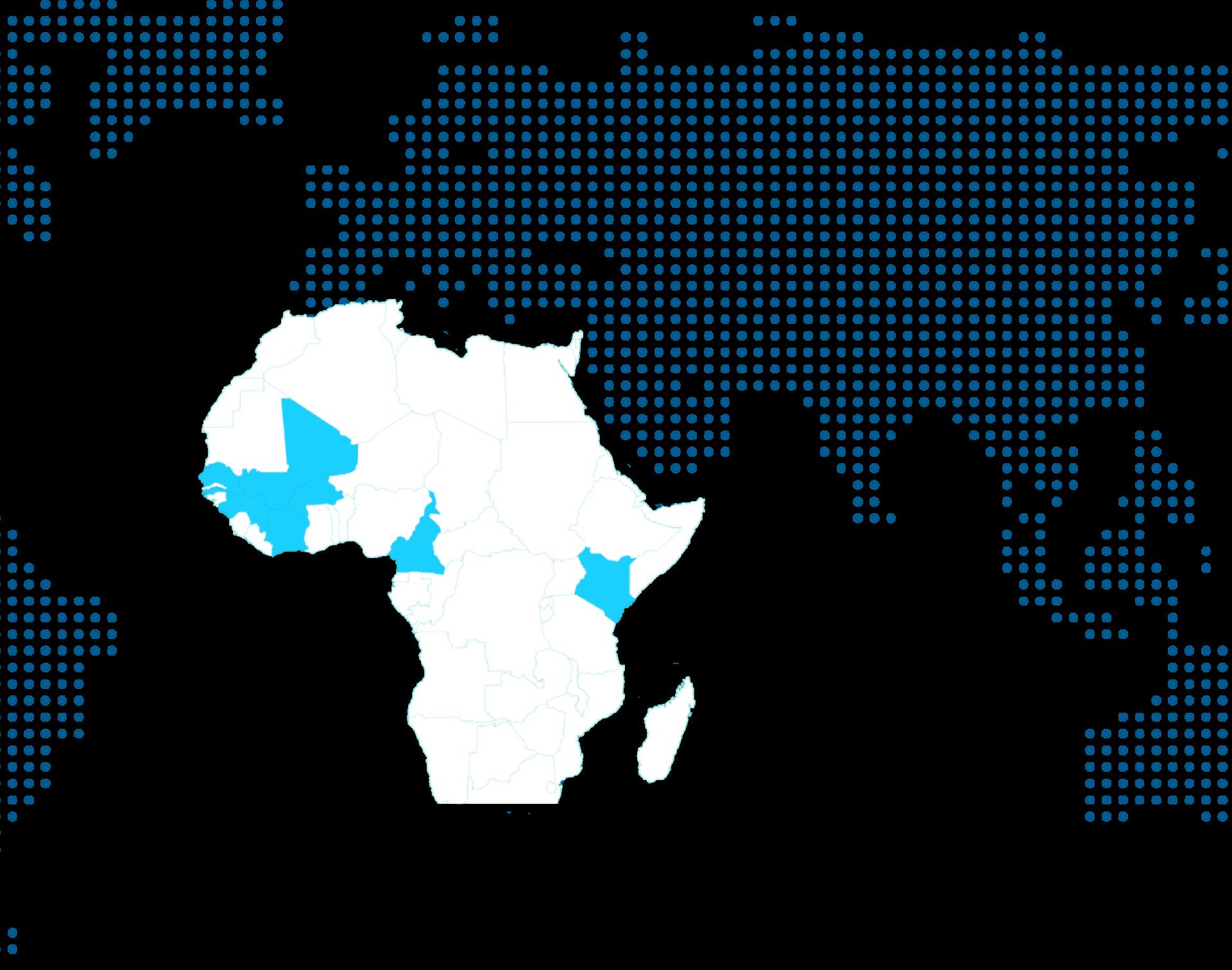 Carte des pays