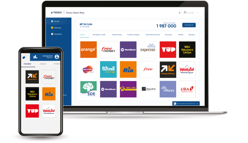 Touch Pay web et mobile